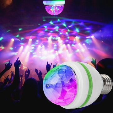 Rotačná Disco LED žiarovka - multicolor